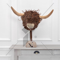 Voyage Maison Highland Cow Wooden Sculpture