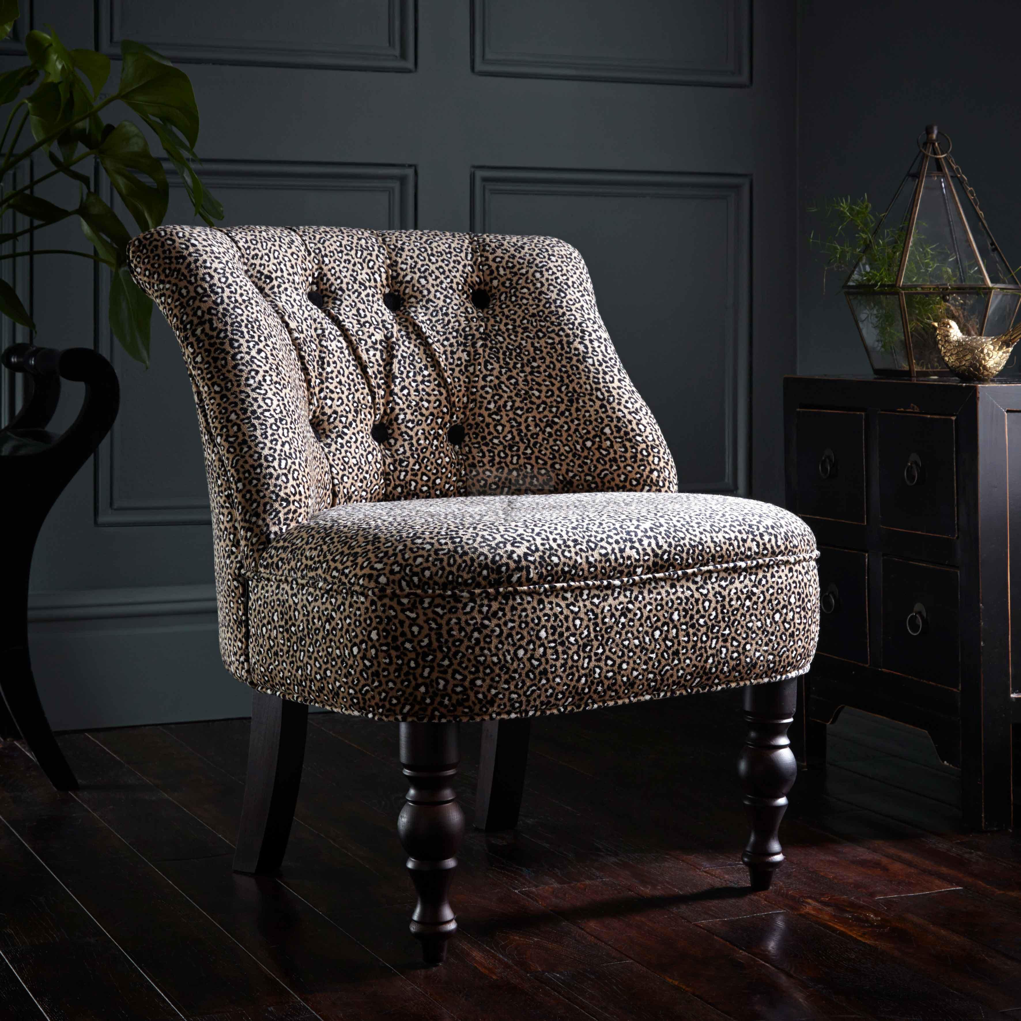 Clarke and Clarke Ocelot Ebony Odette Chair