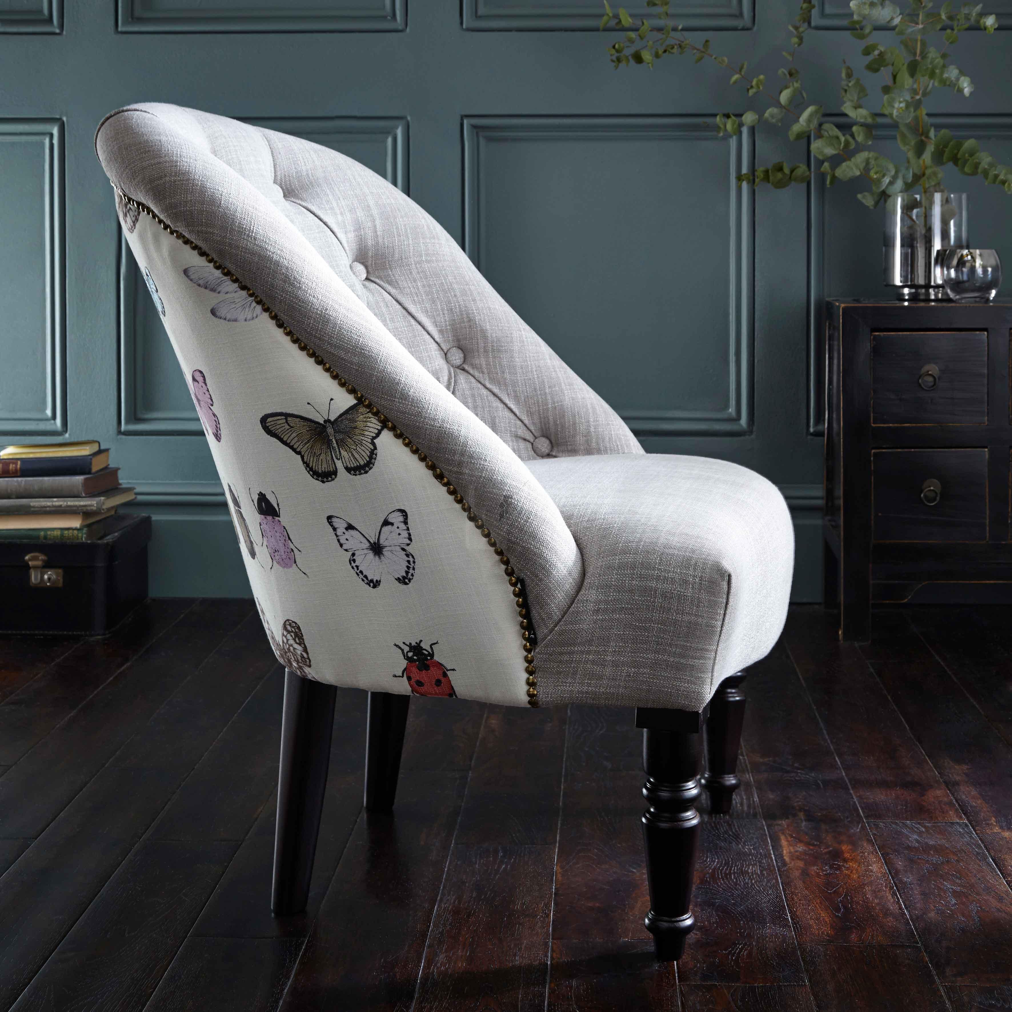 Clarke and Clarke Papilio Heather Soho Chair