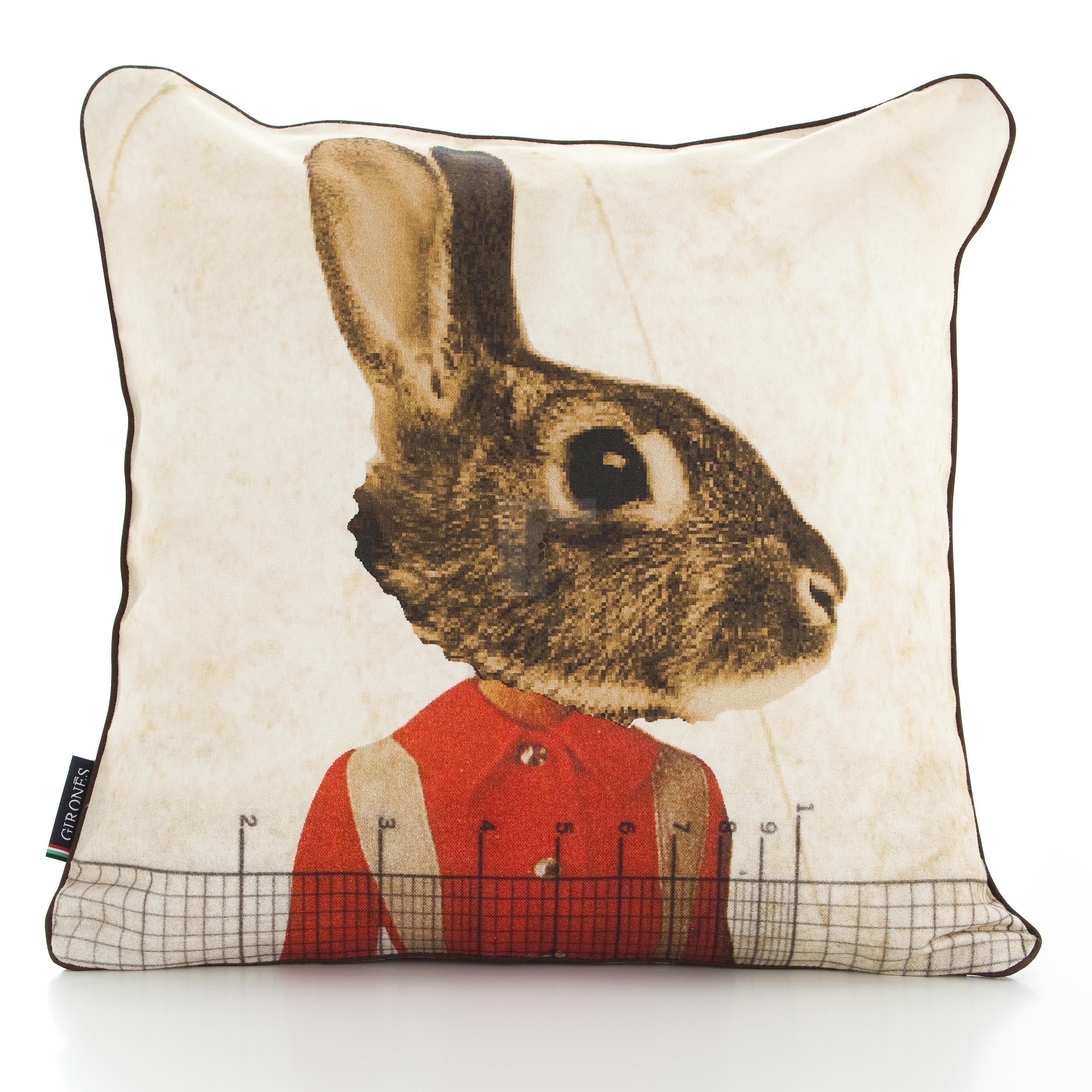 Nordic Rabbit 47cm x 47cm Filled Cushion
