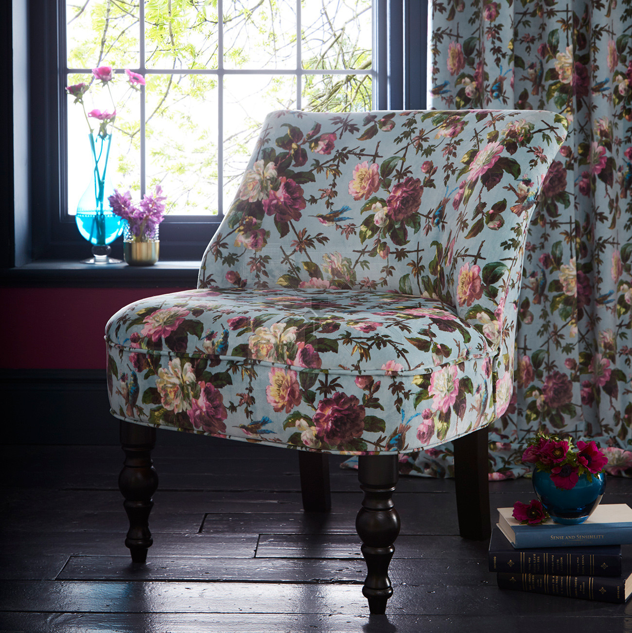 Oasis Renaissance Teal Langley Chair