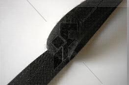 "Sew-On Hook Velcro (Black) 25mm (1"") - Price Per Metre"