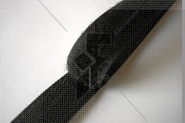 """Sew-On Loop Velcro (Black) 25mm (1"""") - Price Per Metre"""