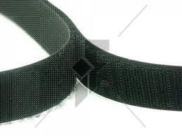"Stick-On Hook Velcro (Black) 25mm (1"") - Price Per Metre"