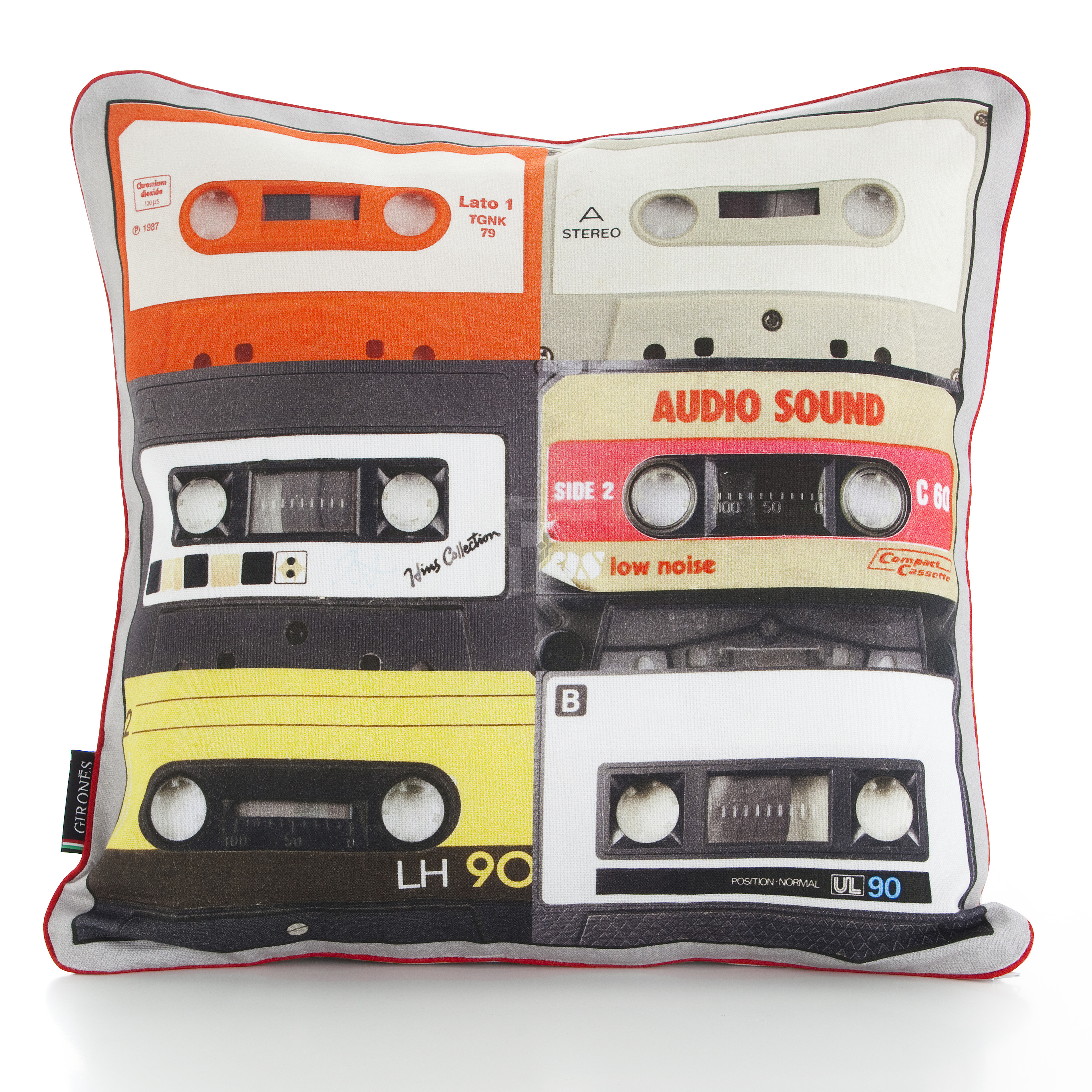 Tapes 47cm x 47cm Filled Cushion