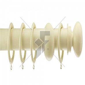 Integra 28mm Wood Works Ribbed Ball Cream Pole Kit