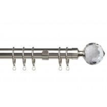 25-28mm Pristine Crystal Pole Set - Satin Silver