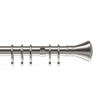 25-28mm Pristine Trumpet Pole Set - Satin Silver