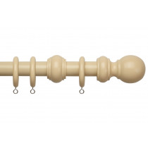28mm County Wood Pole Set - Cream