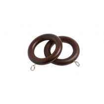 28mm County Wood Rings Pk4 - Chestnut
