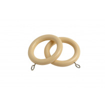 28mm County Wood Rings Pk4 - Cream