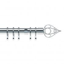 28mm Divine Complete Pole Set - Satin Silver