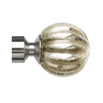 Pair of Poles Apart Hold Back Arms With Pair of Dynasty Finials - Satin Silver