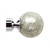 Pair of Poles Apart Hold Back Arms With Pair of Empire Finials - Chrome