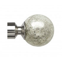 Pair of Poles Apart Hold Back Arms With Pair of Empire Finials - Satin Silver