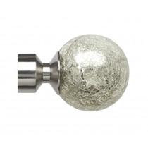 28mm Empire Finial Pk2 - Satin Silver