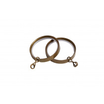 28mm Flat Lined Rings Pk8  - Antique Brass