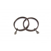 28mm Flat Lined Rings Pk8  - Polished Graphite