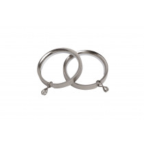 28mm Flat Lined Rings Pk8  - Satin Silver