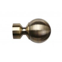 28mm Poles Apart Ball Finial (Vista) Pk 2 - Antique Brass