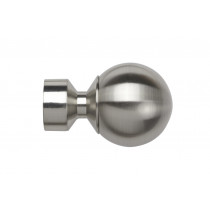 Pair of Poles Apart Hold Back Arms With Pair of Ball Finial (Vista) Finials - Satin Silver