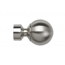 28mm Poles Apart Ball Finial (Vista) Pk 2 - Satin Silver