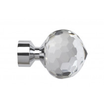 28mm Poles Apart Bella Finial Pk2 - Chrome