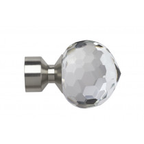 28mm Poles Apart Bella Finial Pk2  - Satin Silver