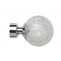 Pair of Poles Apart Hold Back Arms With Pair of Crash Finials - Chrome
