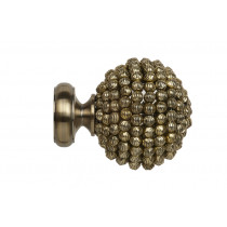 28mm Poles Apart Mia Finial Pk2  - Antique Brass