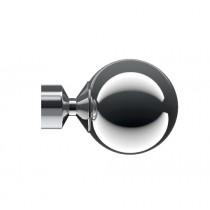28mm Poles Apart Sphere Finial Pk2  - Chrome