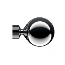 28mm Poles Apart Sphere Finial Pk2  - Polished Graphite