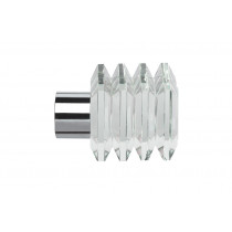 Pair of Poles Apart Hold Back Arms With Pair of Squares Finials - Chrome
