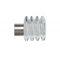 28mm Poles Apart Squares Finial Pk 2 - Satin Silver