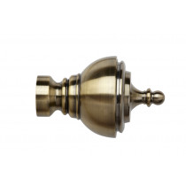 28mm Poles Apart Vienna Finial Pk2  - Antique Brass