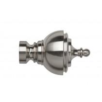 28mm Poles Apart Vienna Finial Pk2 - Satin Silver