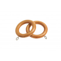 28mm Victory Wood Rings Pk6 - Light Ash