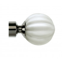 28mm Province Finial Pk2 - Polished Graphite