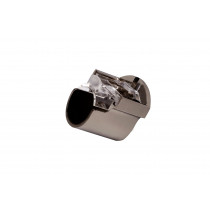 28mm Recess Support Pk2 - Polished Graphite