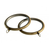 28mm Standard Lined Ring Pk 8 - Antique Brass