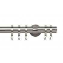28mm IDC Poles Apart Fixed Pole - Satin Silver