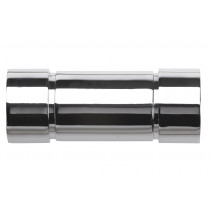 Pair of Poles Apart Hold Back Arms With Pair of Aspect Finials - Chrome