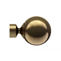 28mm Poles Apart Fixed Eyelet Pole With Pair of Sphere Finials - Polished Graphite