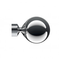 Pair of Poles Apart Hold Back Arms With Pair of Sphere Finials - Chrome