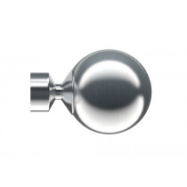 Pair of Poles Apart Hold Back Arms With Pair of Sphere Finials - Satin Silver