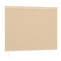 25mm PVC Slat Venetian Blind 160cm Drop - Natural