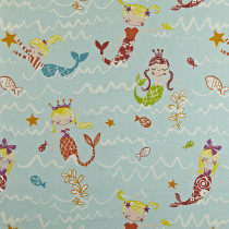 Interior Fabrics Arsinoe Fabric - Aqua