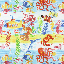 Interior Fabrics Avon Fabric - The Sea Marine