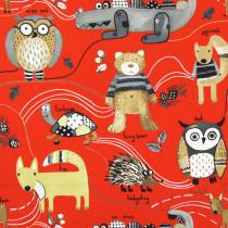 Interior Fabrics Azana Fabric - Red