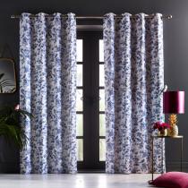 Oasis Amelia Eyelet Curtains - Indigo